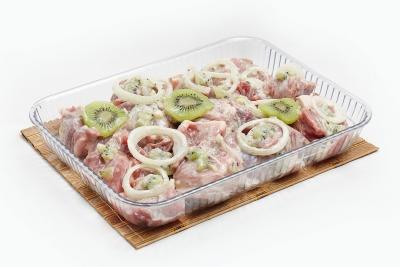 Свинина в йогуртово-чесночном соусе (киви)